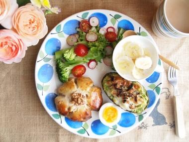 kurumi pan & avocado gratin