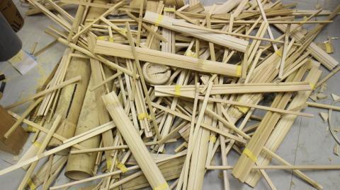 廃棄する竹