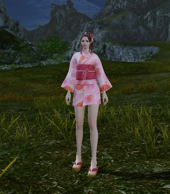 浴衣ピンク (2)