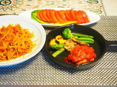 トマト煮込みハンバーグ2