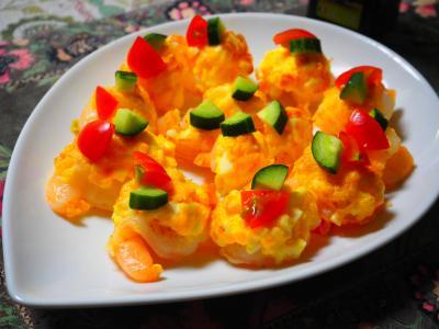 エビと卵のオーブン焼き