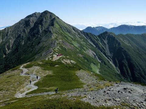 北岳と山荘