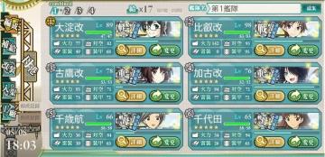2016春イベE-4第1艦隊編成