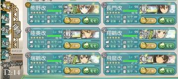 2016春イベ E-7第1艦隊最終編成