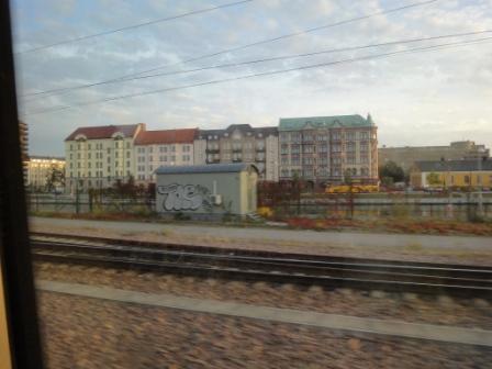 コペンハーゲンから電車