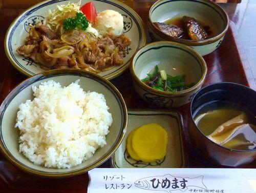 十和田湖13休屋 十和田バラ焼き定食