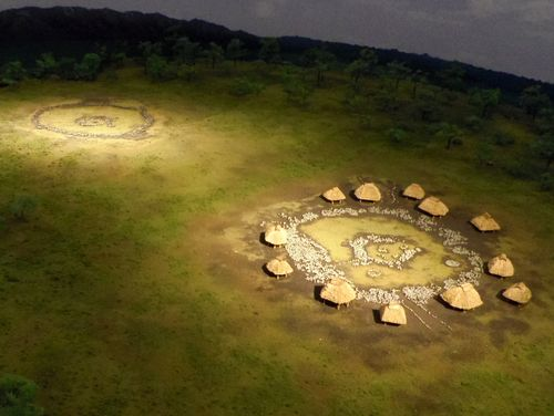 大湯環状列石1全景模型