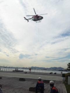 防災訓練 ヘリ