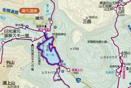 湯ノ湖の散策路