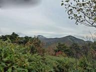 登山道からの茶臼岳