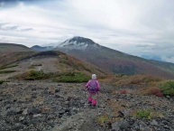 茶臼岳への稜線