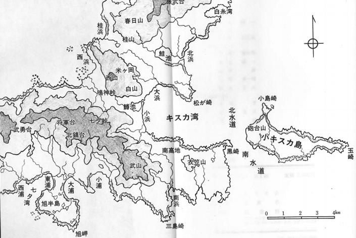 キスカ島地図