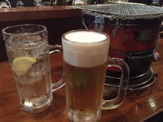 生ビールとハイボール