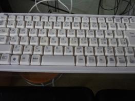パソコンのキーボードを掃除しました。