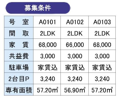 2LDK価格表
