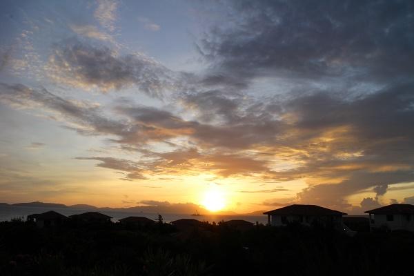 小浜島からの朝日
