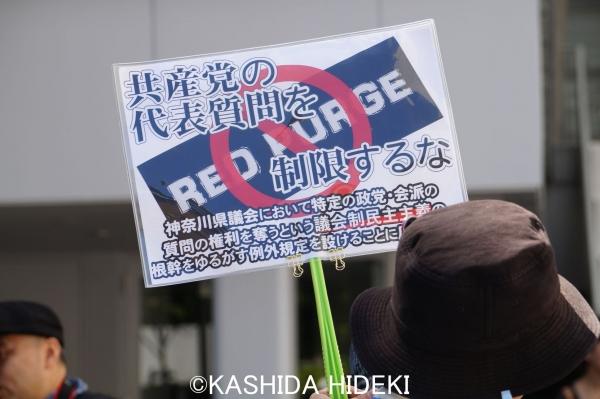 神奈川県庁前アピール2