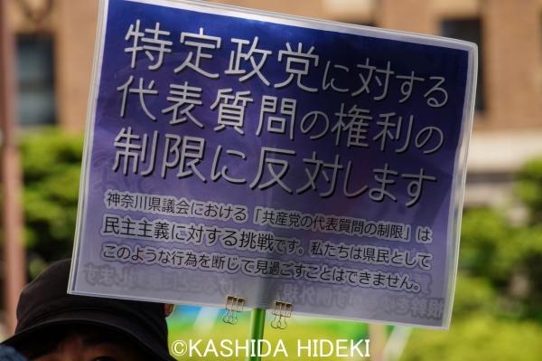 神奈川県庁前アピール3