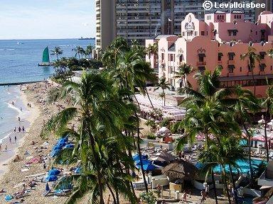 ピンクホテルことThe Royal Hawaiian downsize