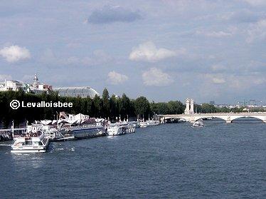 セーヌに掛かるアレキサンダーⅢ世橋とグランパレREVdownsize