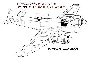 Beaufighter TFX後期型の外観downsize
