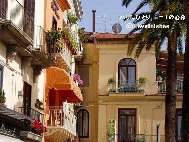 黄色とオレンジの家並がいかにも南欧downsize