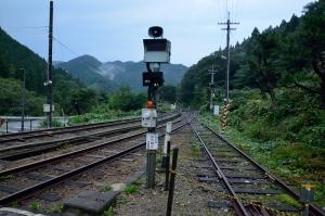 出雲坂根駅の線路