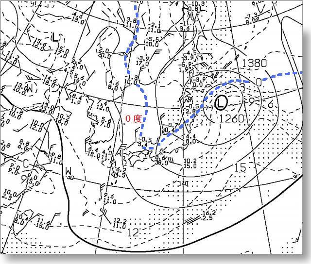 2016年4月29日09時 850hPa高層図