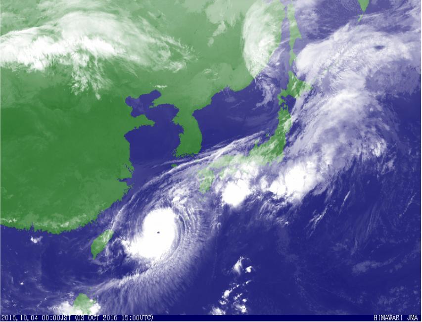 台風の目が明瞭