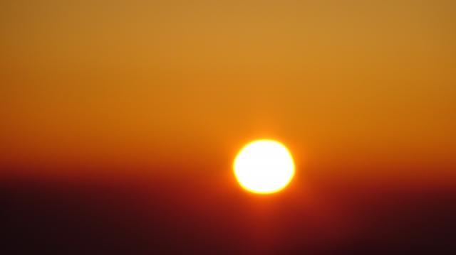 赤い太陽だ