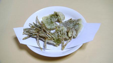 ヤマブドウの新芽の天ぷら
