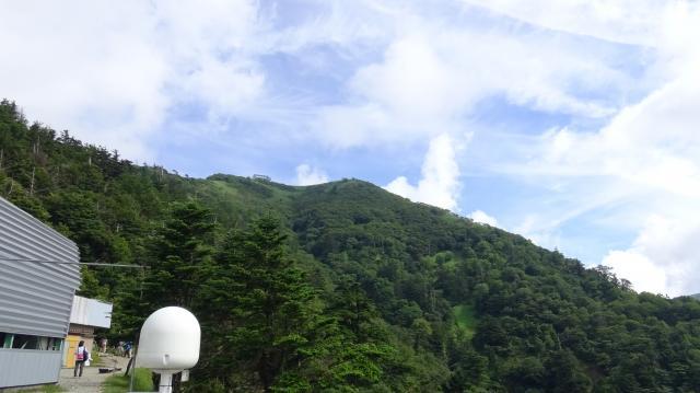 剣山山頂の雲が晴れた