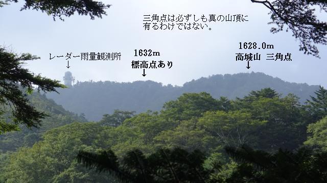 高城山山頂を眺める