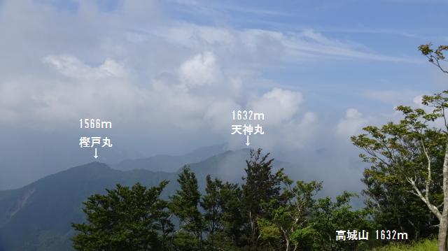 高城山の山頂から