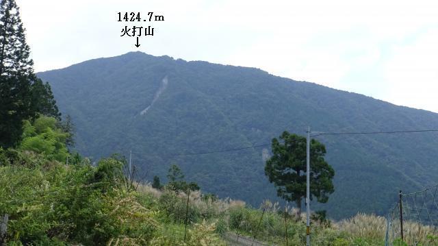 標高900m地点から、火打山を見る
