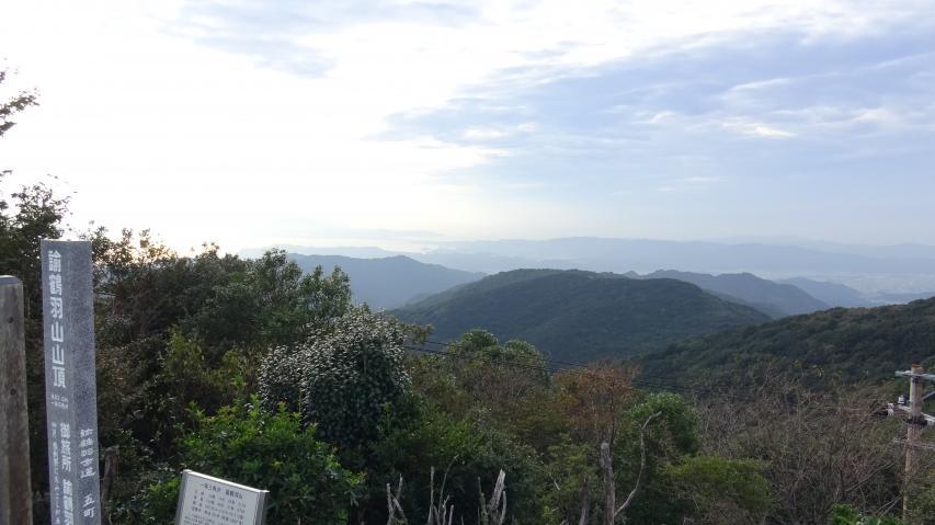 山頂から西のほうを見る