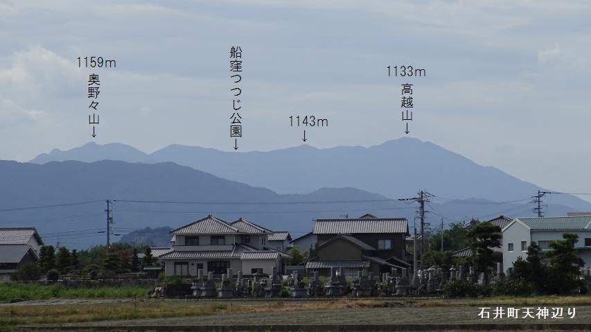 石井町から高越山を見る