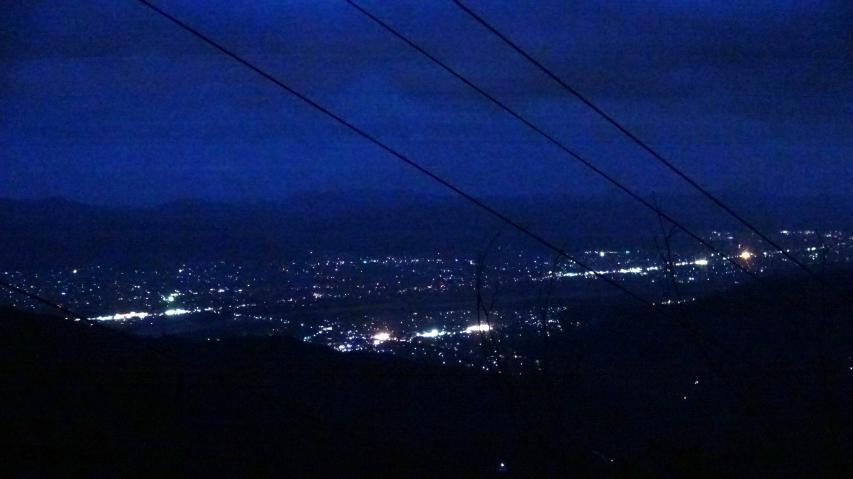 徳島平野の1000ドルの夜景
