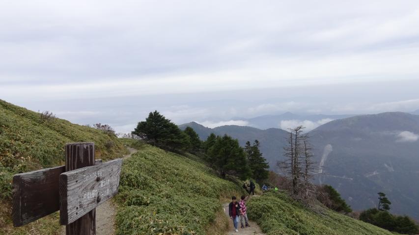 帰りの登山道