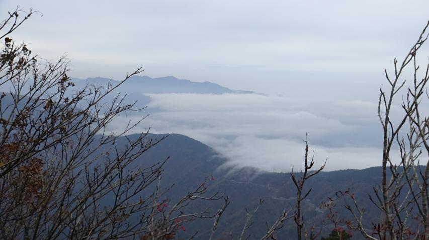 また雲海が出てきた