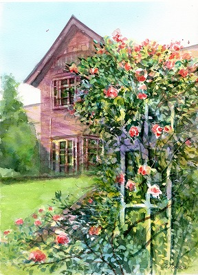 WEBバラの咲く庭園