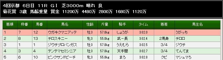 84S菊花賞結果