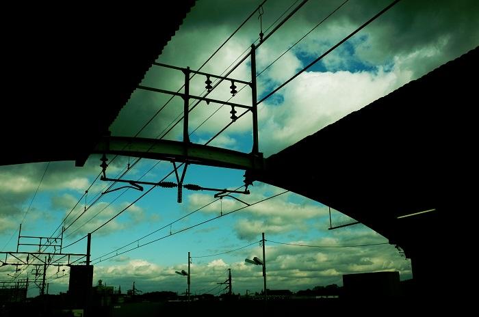 フリー画像空と橋と