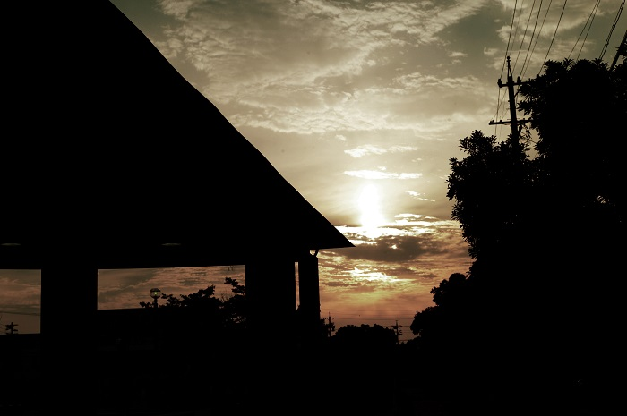 フリー画像日の入りの空