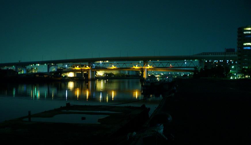フリー画像夜の橋