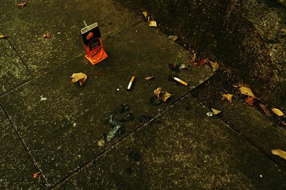 フリー画像道端のゴミ