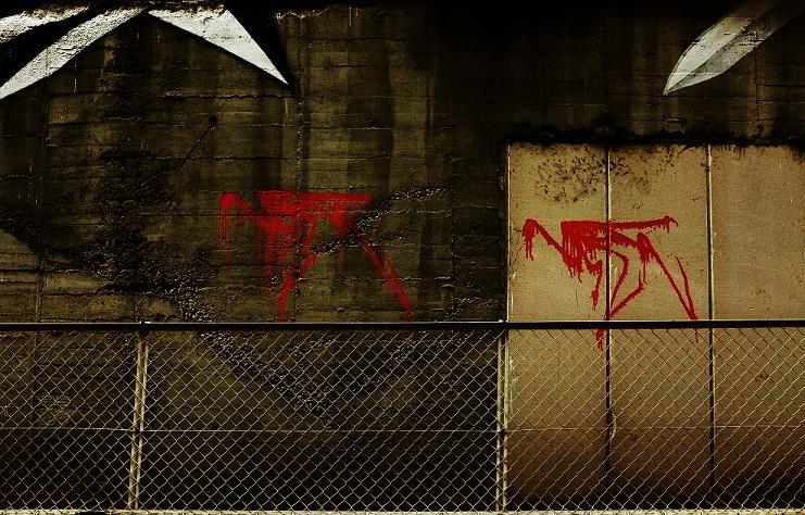 フリー画像壁の落書き