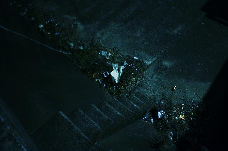 フリー画像ゴミだらけの場所