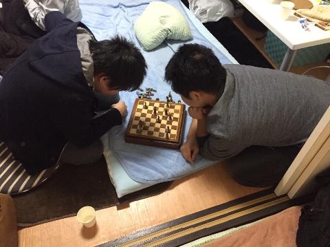 東北旅行1日目…チェス?