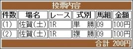 20161022 佐賀1R C2 ラルゴランド